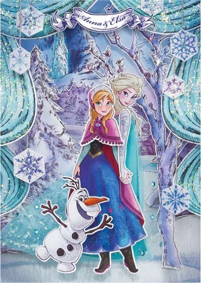 立体的なアナとエルサと可愛いオラフの壁紙