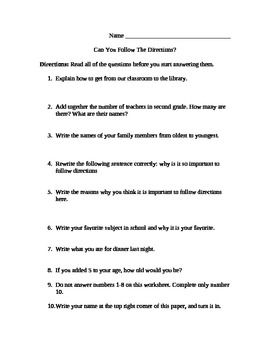 Worksheets Can You Follow Directions Worksheet activities on pinterest can you follow directions activity
