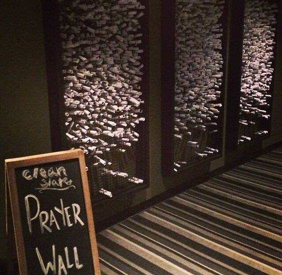 A great way to make a Wailing Wall for people to post their pleas to God
