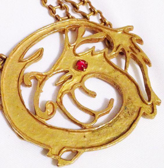 Richelieu - Bill Smith - Sautoir 'Dragon' Stylisé - 1970-72