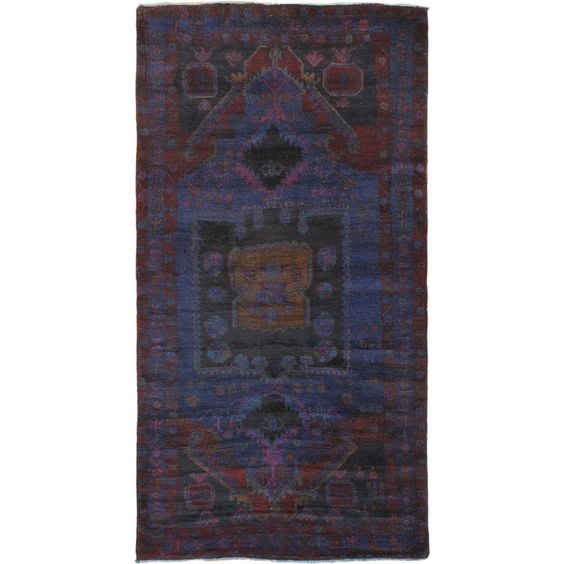 "4'9"" x 9'3"" Color Transition Rug In Blue"