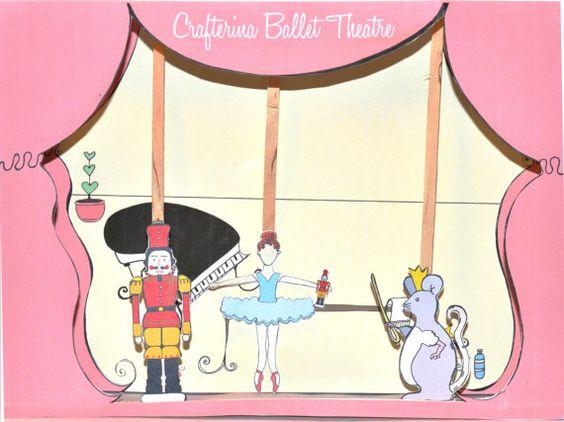 Ballerina puppet theater from Crafterina.
