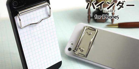 バインダーiphoneケース  Iphone case binder  High quality Mede in Japan