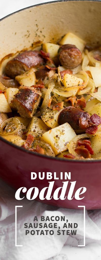 Dublin Coddle: Dublin Coddle is a traditional Irish potato, sausage, and bacon stew that slow cooks away in the oven. It's great for St. Patrick's Day or any day you need some comfort food!: