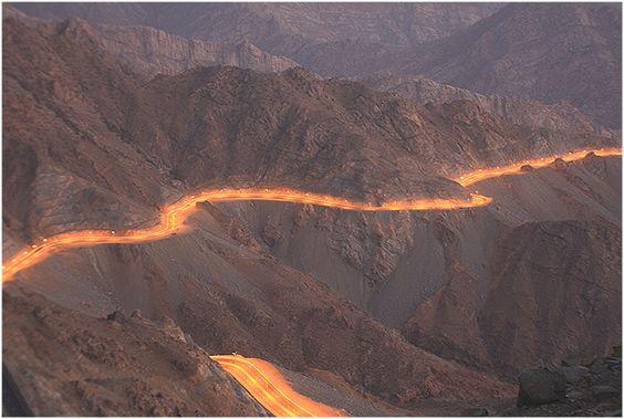 The road between Makkah city & Taif city through Sarawat mountains, west of #Saudi Arabia.