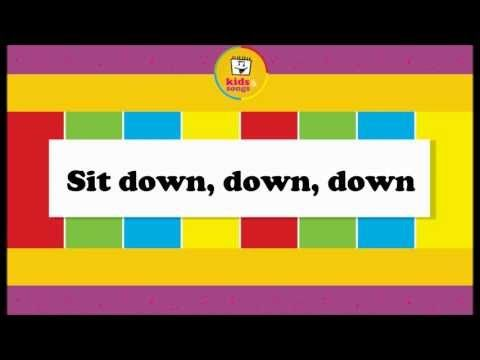 Sit Down! - Learn English for Kids Song by Little Fox - YouTube