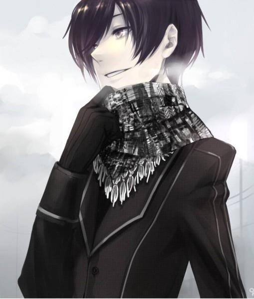 Парень аниме с чёрными волосами