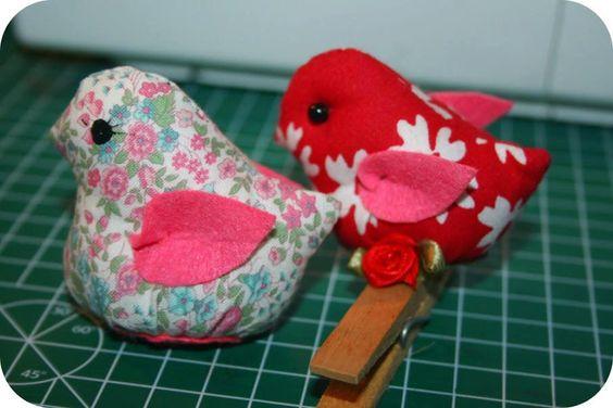 !!!!♥ Feltro-Aholic ♥ Moldes e pap em feltro e feltro estampado!: molde passarinho diferente