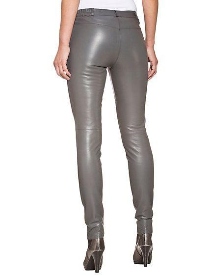 Alba Moda - Leder-Stretchröhre graphit im Heine Online-Shop kaufen
