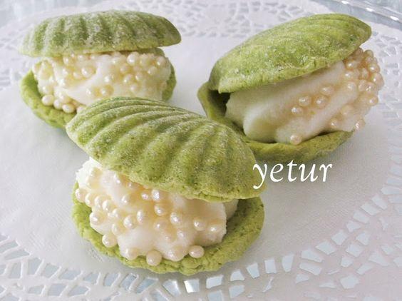 yetur'la lezzet kareleri: fıstıklı istiridye kurabiye: