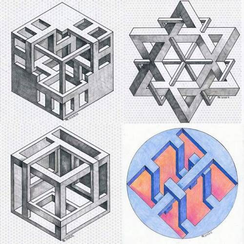 Pin By Anna Arakelyan On Art Paiting In 2020 Isometric Art Geometric Art Graph Paper Art