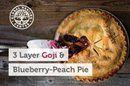 Three-Layer Goji Blueberry Peach Pie http://ow.ly/AFQQ302M6Dh #AllNatural #NoChemicals