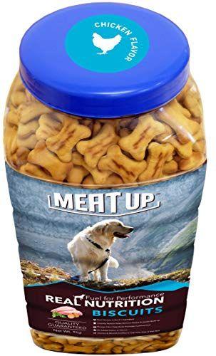 Meat Up Chicken Flavour Real Chicken Biscuit Dog Treats 1kg