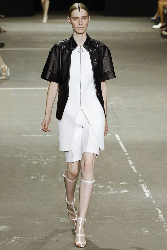 Leather jacket on a crisp white look - PERFECT Alexander Wang Spring 2013 Ready-to-Wear Collection Slideshow on Style.com