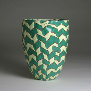 dying over this venini vase. looks like opaque glass...LOVE the pattern!
