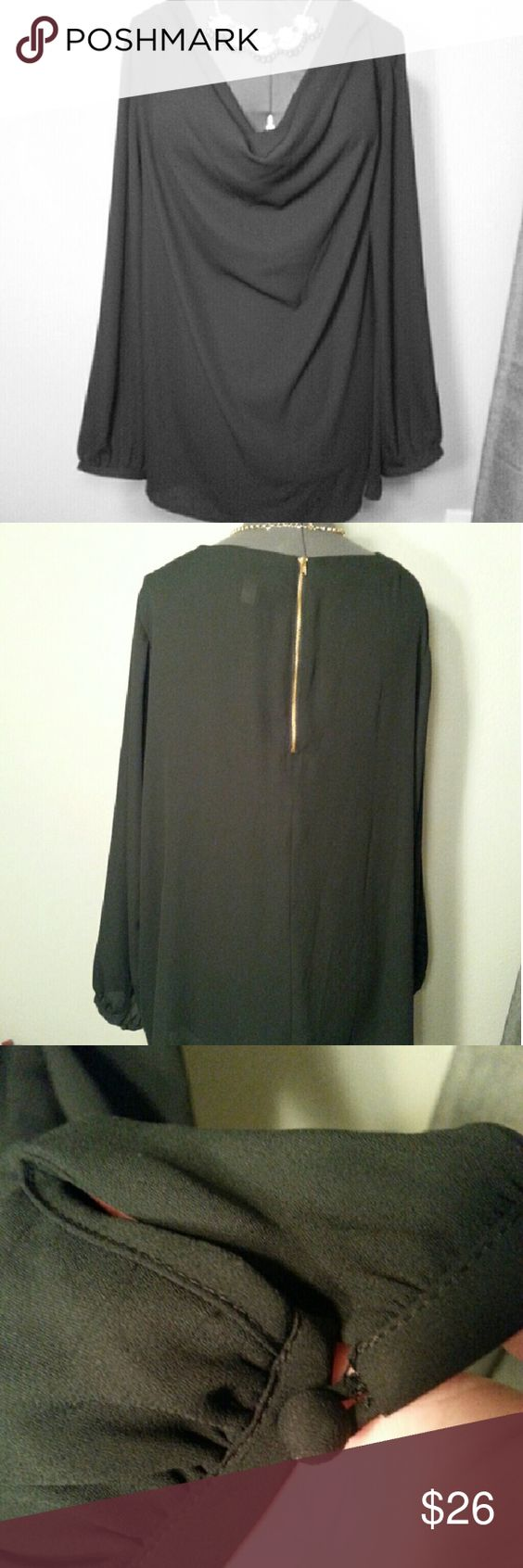 Lane Bryant Dress Top sz 26/28 LANE BRYANT -  a classic top! Black, simple, polyester dressy top.   Sz 26/28  Smoke free home  If you have any questions please feel free to ask - I'd be happy to help you! ? Lane Bryant Tops Blouses