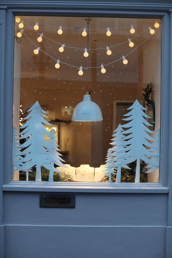 Like the hanging lights as part of window display