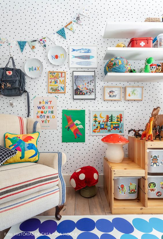 子供部屋 海外 カラー 配色 インテリア コーディネート例 ポイント