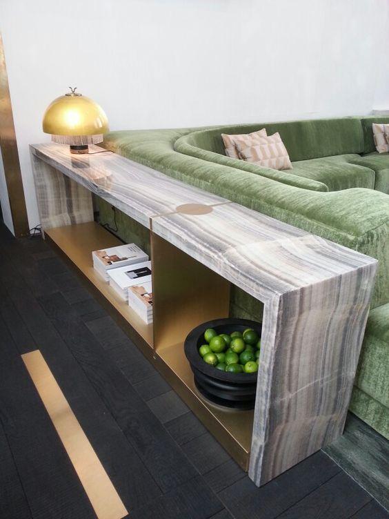 Amazing green onyx console