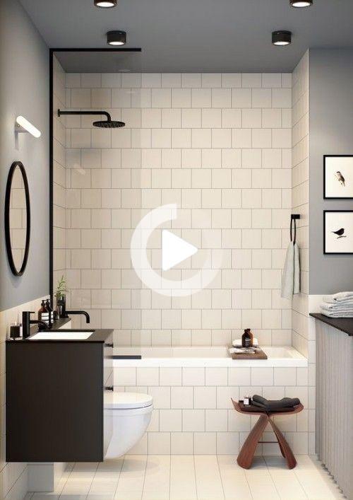Kleines Badezimmer Clevere Tricks Die Das Bad Grosser Erscheinen Lassen In 2020 Modern Bathroom Design Bathroom Design Small Bathroom Design Small Modern
