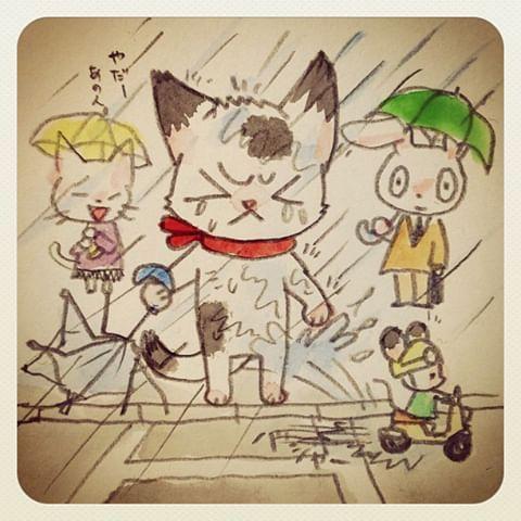 風の強い日に出掛けると必ず傘壊しちゃう!でも負けない!   Pikachu ...