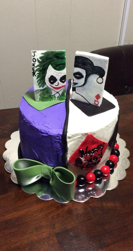 Jokers Cake My Cakes Pinterest Joker Cake Cakes And