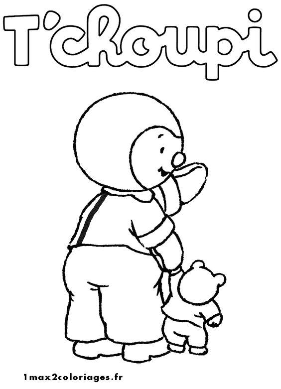 T 39 choupi et doudou coloriages enfants pinterest fils - T choupi et doudou ...