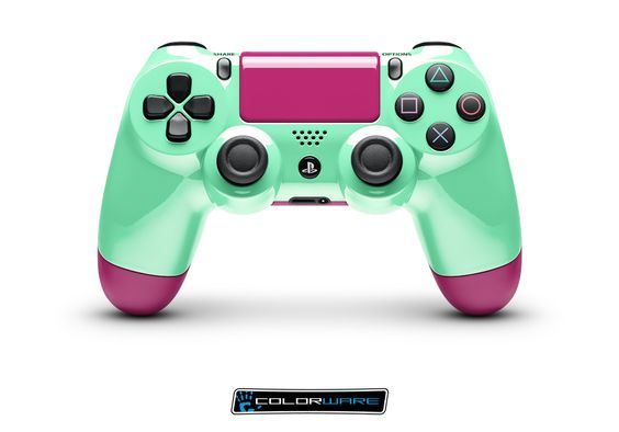 ps4 controller #pink #teal   GotGame? lol   Pinterest ...