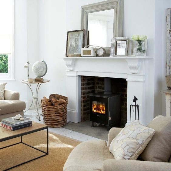 Living room ideas designs inspiration stove - Wood stove ideas living rooms ...