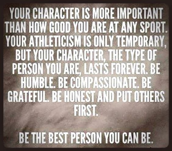 """Lisa Coffey on Twitter: """"Your character is more important than how good you are at any sport, always be the best person you can possibly be.. https://t.co/Gn9Li7Sg7S"""""""
