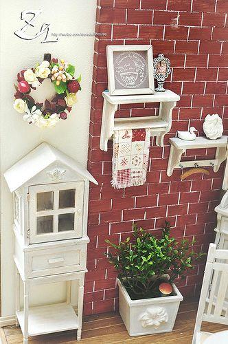 ♡ ♡ Gabinete en forma de casa, por Zq_dollhouse