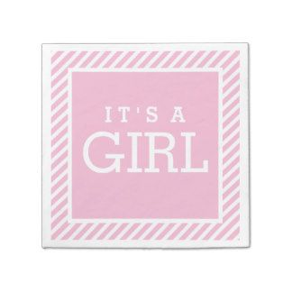 It's a Girl Napkins | Light Pink Paper Napkin