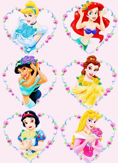 6 lovely princesses