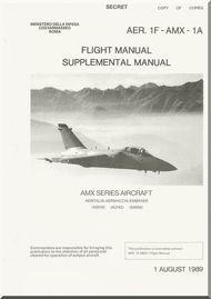 Aeritalia Aermacchi  Embraer AMX Aircraft Flight Supplement Manual AER. 1F-AMX-1-1