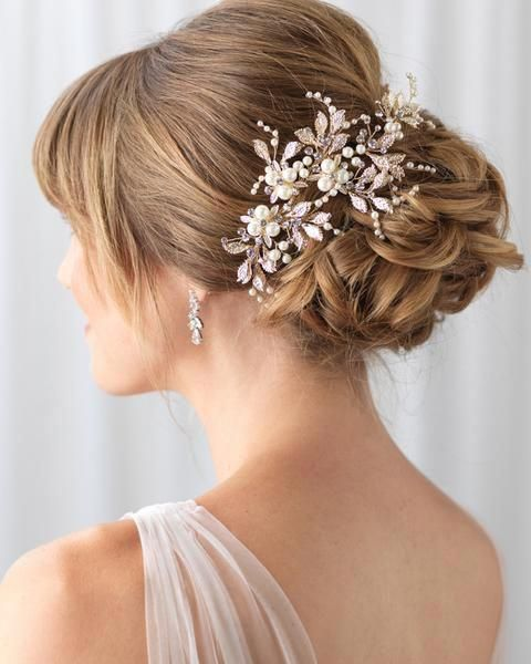 Nina Pearl Flower Hair Clip Shop Wedding Headpieces Usabride Weddinghairup Floral Hair Clip Wedding Wedding Hair Clips Wedding Hair Inspiration