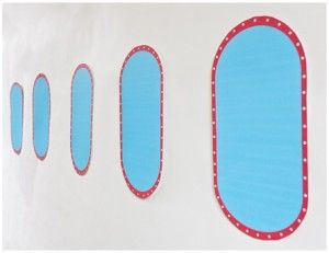 Use the airplane windows (pictured above) to decorate walls, doors and more to create the feeling of being inside the airplane! Line up chairs along the wall near the window so it feels like the kids are walking through the aisle of the airplane.