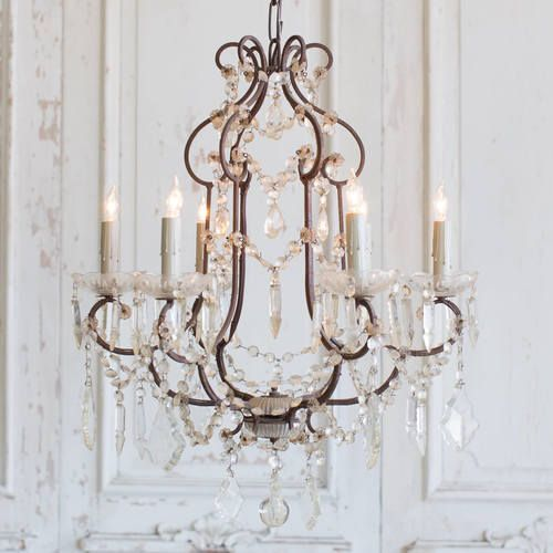Antique French Glass Crystal Chandelier Chvp06048 Add More Crystal Beads French Country Chandelier Vintage Crystal Chandelier Country Chandelier