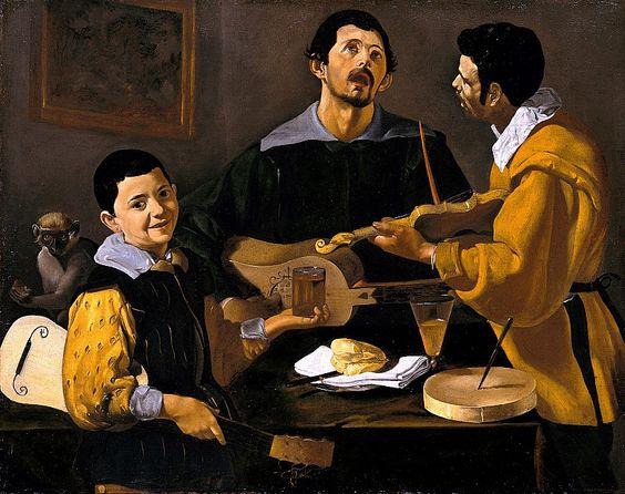 Diego Rodriguez De Silva Velazquez - The Three Musicians, 1618: