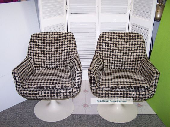 2 Vintage 1970 U0027 S Daystrom Furniture Boston Sarinen   Burke Style Tulip  Base Chairs Photos And Information In AncientPoint