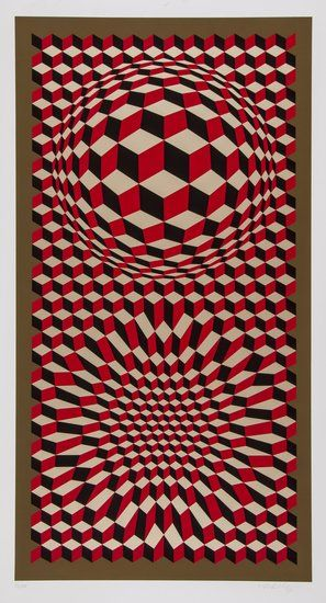 Victor Vasarely (1906-1997) VP-Cheyt 75 screenprint in colours, 1975, signed in pencil, numbered 57/250, on thick wove paper, with full margins, 1026 x 540 mm (40 3/8 x 21 1/4 in)