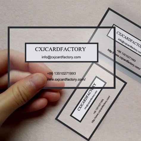 Unique Transparent Business Card Makes You Unique Graphic Design Business Card Plastic Business Cards Clear Business Cards