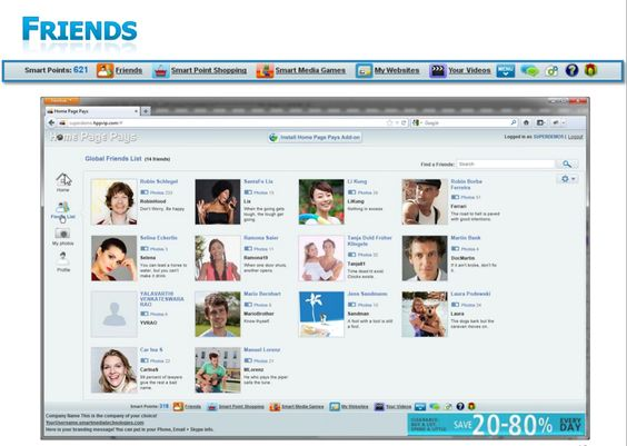 Find your friends with our amazing Global Friend Finder feature  http://topearner.homepagepays.com