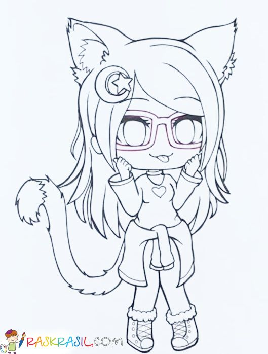 Gacha Life Coloring Pages Unique Collection Print For Free Cute Coloring Pages Chibi Coloring Pages Anime Character Drawing