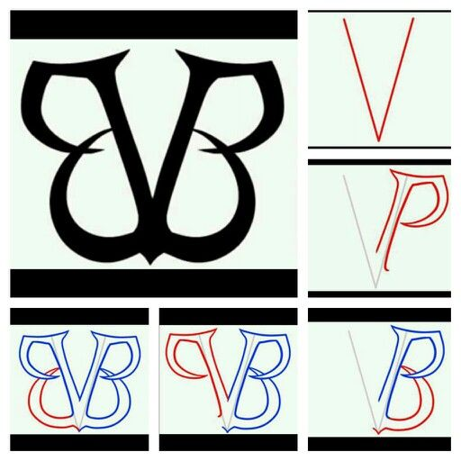 How To Draw BVB Logo!!!!!