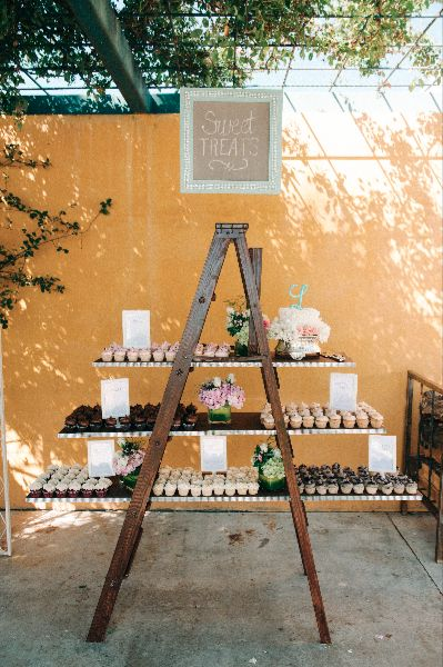 Ladder Cupcake Stand    Ryan Weeger Photography and Simply Sweet Weddings & Events