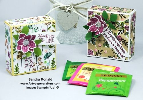 Gift Box for Speciality Teabags | Arty Paper Crafters