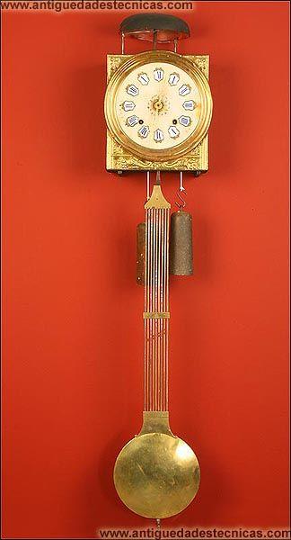 Antiguo reloj de pared de tipo morez francia ca 1900 - Tipos de relojes ...