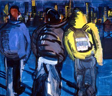 """Rainer Fetting's """"NY Kids"""" 2003  db artmag - all the news on Deutsche Bank Art / db artmag - alle Infos zur Kunst der Deutschen Bank"""