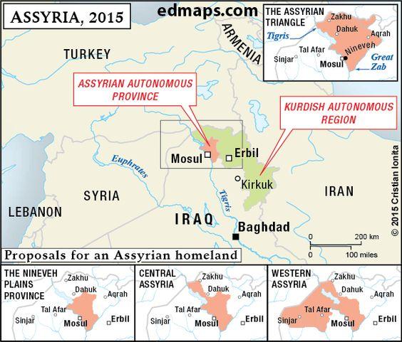 The Assyrian Autonomous Province Iraq 2015 – Map of Iraq Provinces