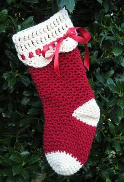 Easy Stocking Knitting Pattern : Easy+Crochet+Christmas+Stocking+Patterns Christmas Crochet Stocking - Knitt...